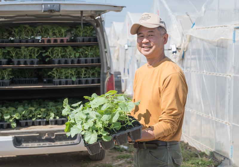 広い土地、ベテランの先生、行政の支援のもと、「農ビジネス」へのトライを続行中